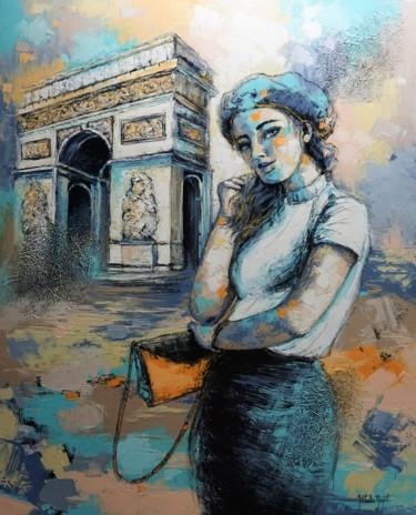 Peinture Monument, acrylique, figuratif, œuvre d'art par Nathalie Montel
