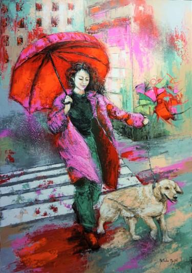 Peinture Urbain, acrylique, figuratif, œuvre d'art par Nathalie Montel