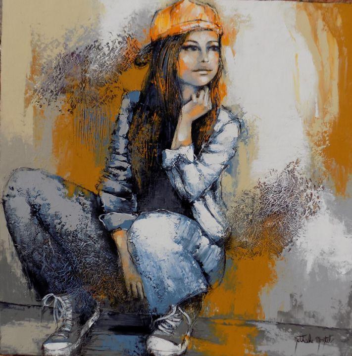 Contre le mur.Nathalie Montel