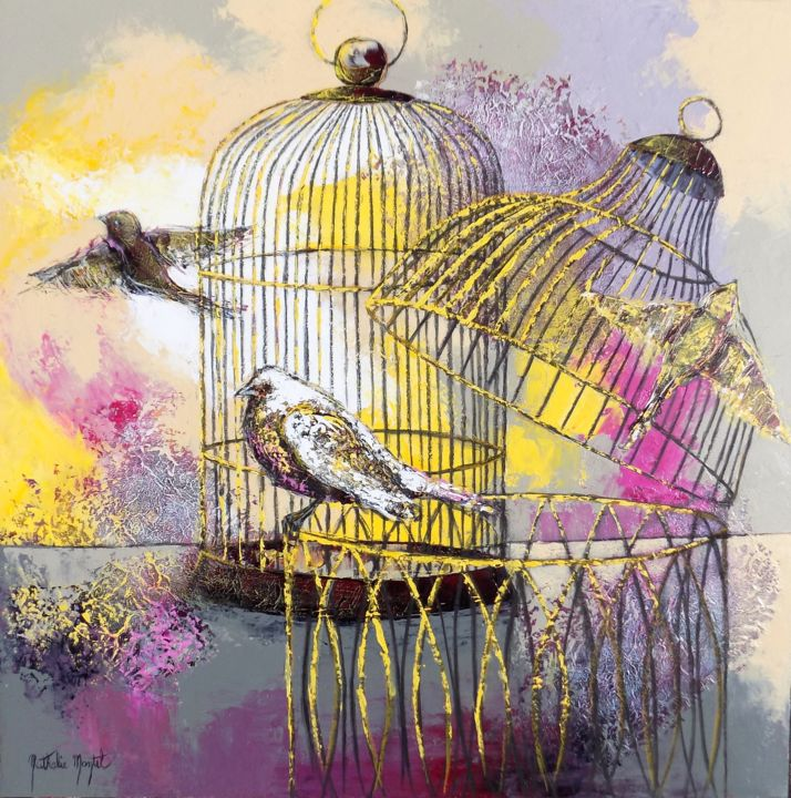 Cages dorées.Nathalie Montel