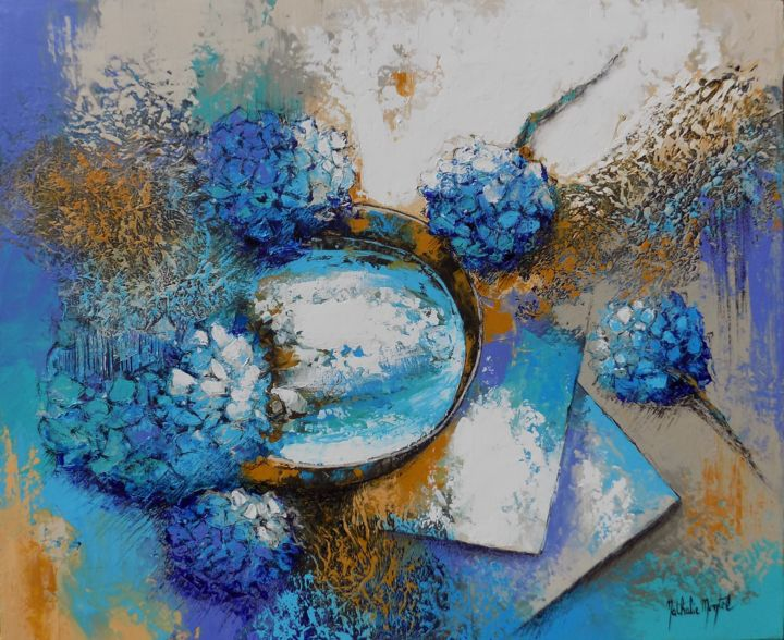 Bleus en équilibre.Nathalile Montel